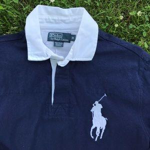 Polo Ralph Lauren Rugby Shirt Navy Men's Medium